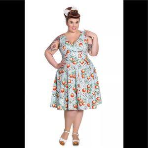 Hell Bunny Apple Dress Size 3X NWT